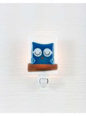 Veille sur toi Blue Owl Night light