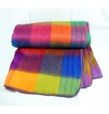 Alpaca TC 70% Alpaca wool Blanket  - Rainbow