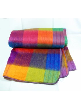 Alpaca TC 70% Alpaca wool Blanket  - Rainbow