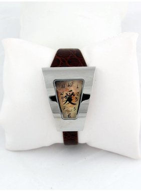 Diane Balit F Chinese sign - Stainless steel case