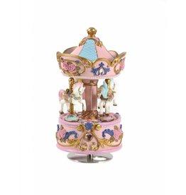 1 Carousel music box of 3 horses JUN 338