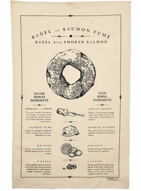 1 Bagel tea towel