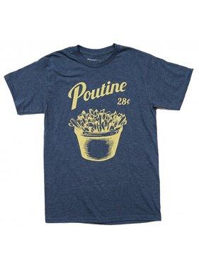 1 T-shirt Poutine - Bleu