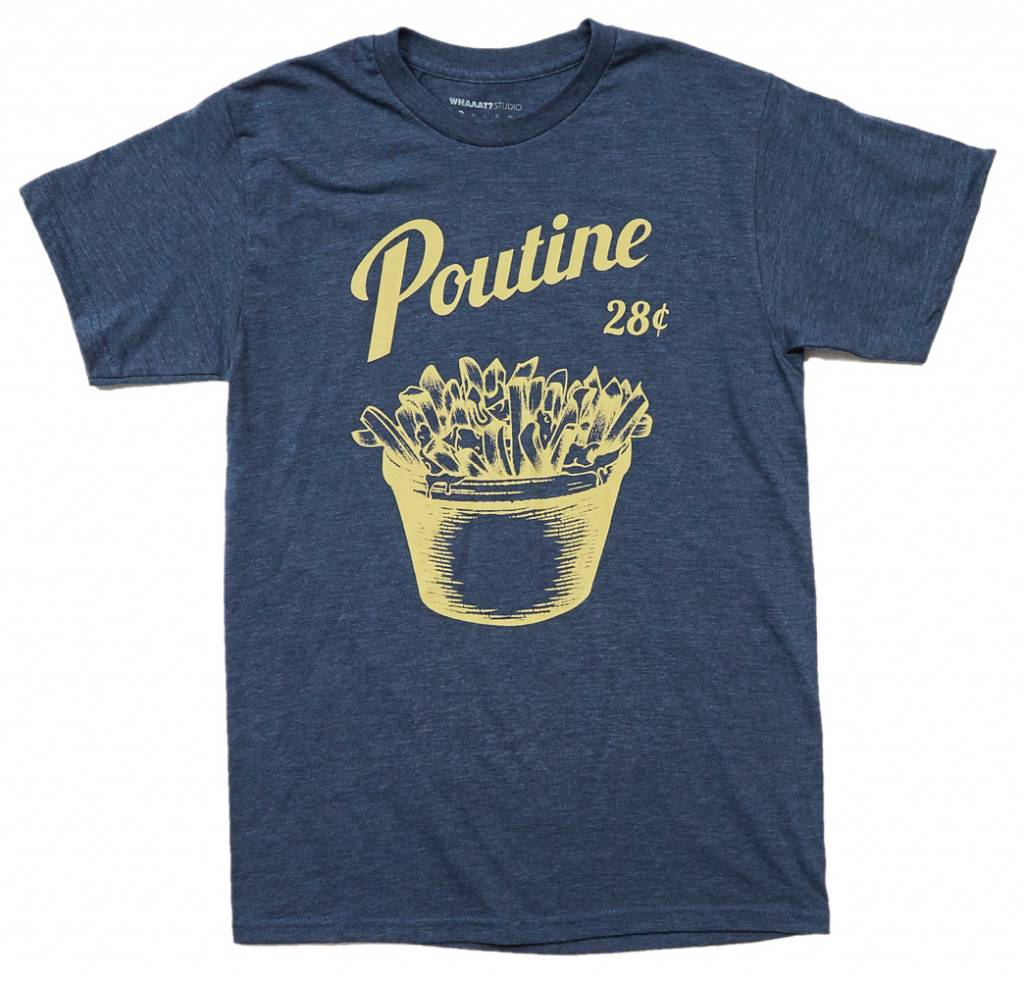 T-shirt Poutine - Bleu