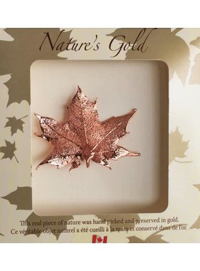 Nature's Gold Maple Leaf Maple leaf Brooch - Copper plated