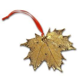 Nature's Gold Maple Leaf 1 Ornement feuille d'érable plaquée en Or