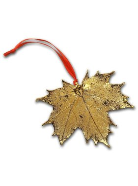 Nature's Gold Maple Leaf 1 Maple leaf Ornement - Gold plated