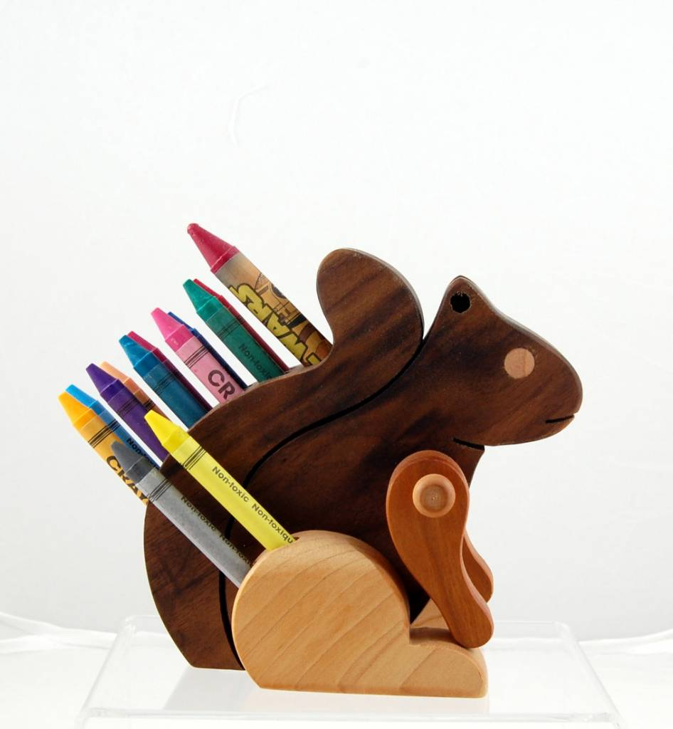 Alain Mailhot - Sculpteur Squirrel - Wax crayons holder