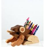Alain Mailhot - Sculpteur Frog - Wax crayons holder