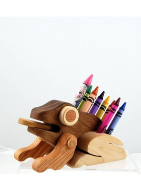 Alain Mailhot - Sculpteur Frog - Wax crayons holder