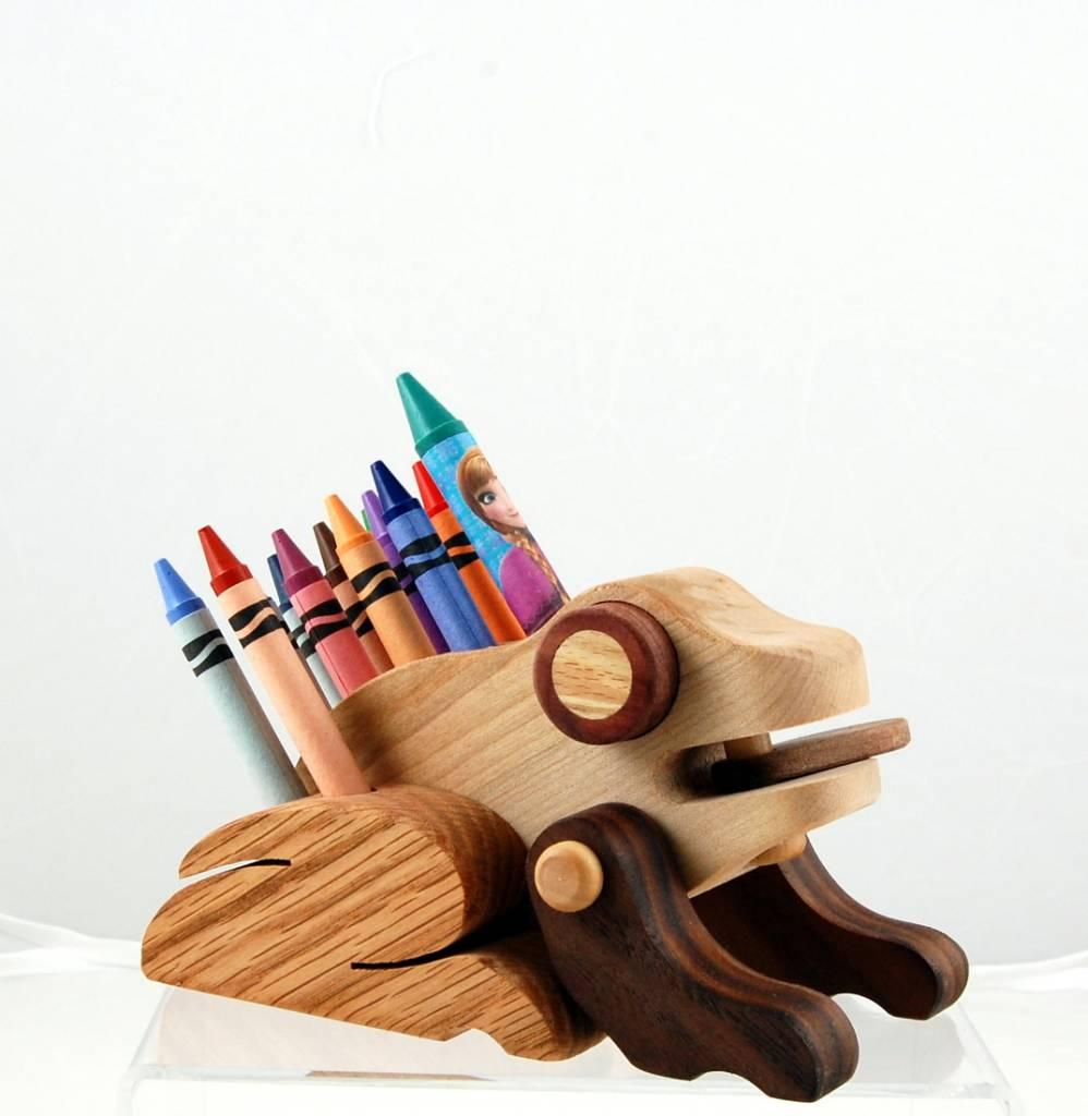 Alain Mailhot - Sculpteur Porte-crayon de cire - Grenouille