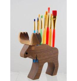 Alain Mailhot - Sculpteur Brush Holder - Moose