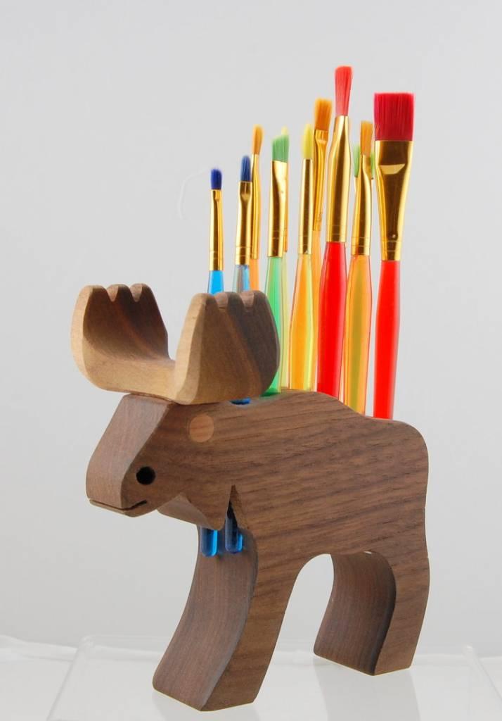 Alain Mailhot - Sculpteur Porte pinceaux - Orignal