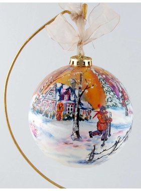 Ghislaine Bergeron Christmas ball hand painted #70