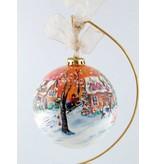 Ghislaine Bergeron Boule Noel peinte à la main #70