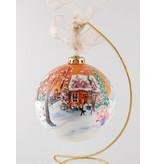 Ghislaine Bergeron Christmas ball hand painted #70