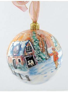 Ghislaine Bergeron Christmas ball hand painted #81