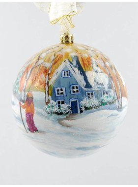 Ghislaine Bergeron Christmas ball hand painted # 89