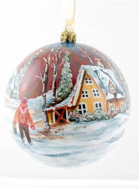 Ghislaine Bergeron Christmas ball hand painted # 01