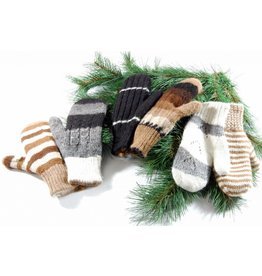 Alpaga PM Double and reversible mittens 100% Alpaca wool