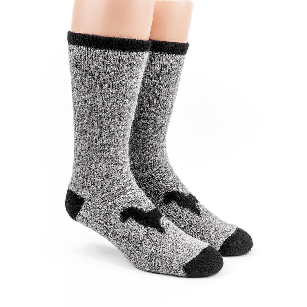 Alpaca DNA Heavy Thermal socks - 80% Alpaca Grey