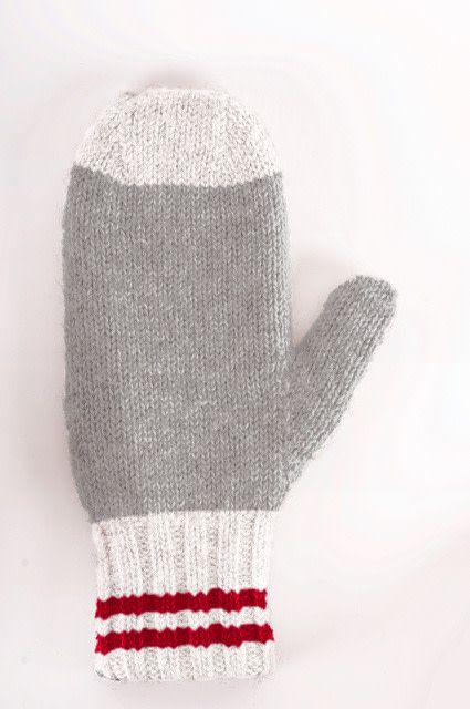 Alpaca DNA Double and reversible traditional mittens 100% Alpaca wool