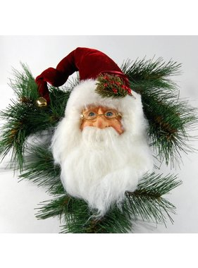Jacqueline Kent Red Santa Claus head ornament