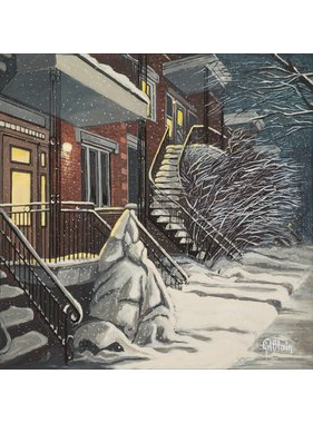 Gilles Blain Snowy evening 10x10
