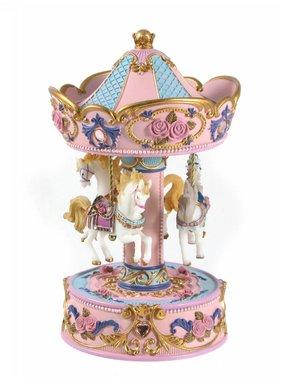 1 LRG.PNK.3 Horse Music Carousel