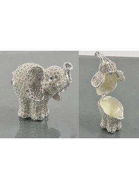 SLV.Elephant Trinket Box