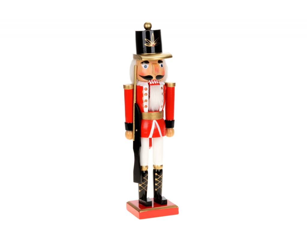 "14"" Red/Wht Soldier Nutcracker  N0969"