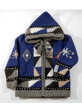 Alpaca TC 1 Veste tricotée à la main - Bleu