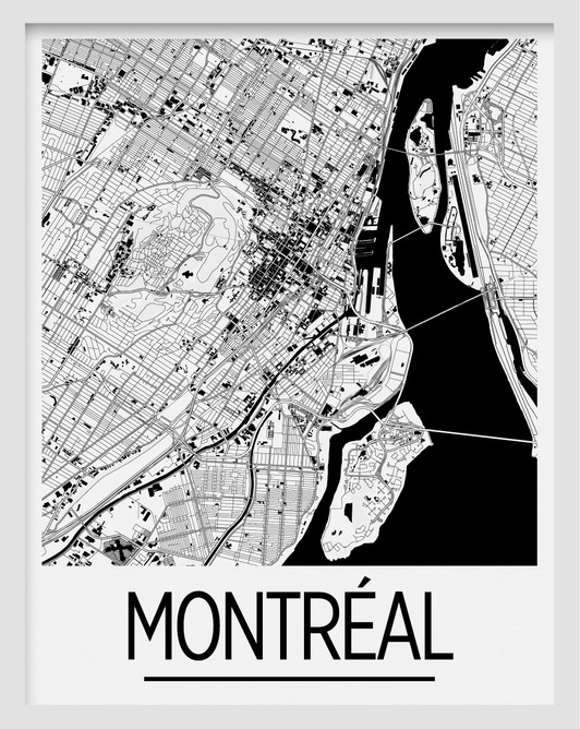 Montreal Map Print 11x14 By Ilikemaps Impresarts Gift Shop And