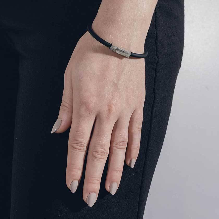 Anne Marie Chagnon Carvi bracelet - Pewter