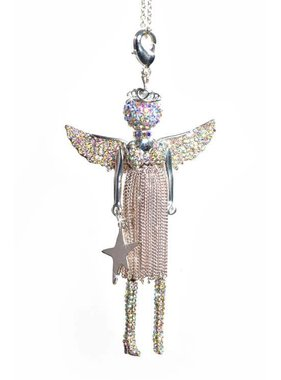 Jacqueline Kent Angel LOVE Christmas SILVER JKDP054