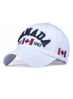 WHITE CANADA CLASSIC 3D EMBROIDERY CAP