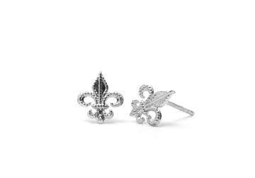 Mini silver Fleur de lis