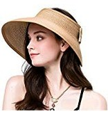 Women's Braid Paper Straw Visor UPF50