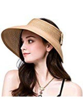 Chapeau sans fond en paille tressé 50 UPF-UV
