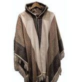Alpaca TC Alpaca wool hooded poncho