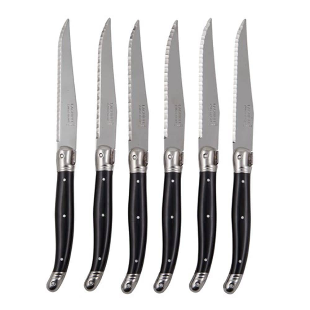 Laguiole Steak Knives - Black