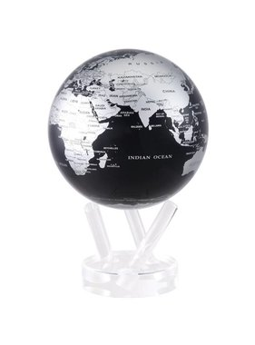 "1 Globe contemporain noir 4.5"""