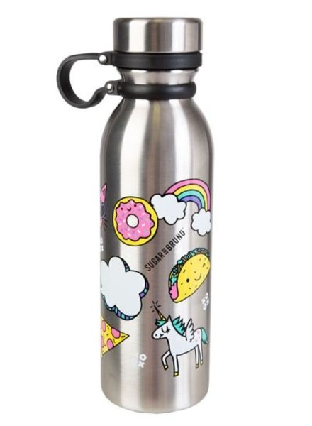 Sugar and Bruno Emoji Water Bottle