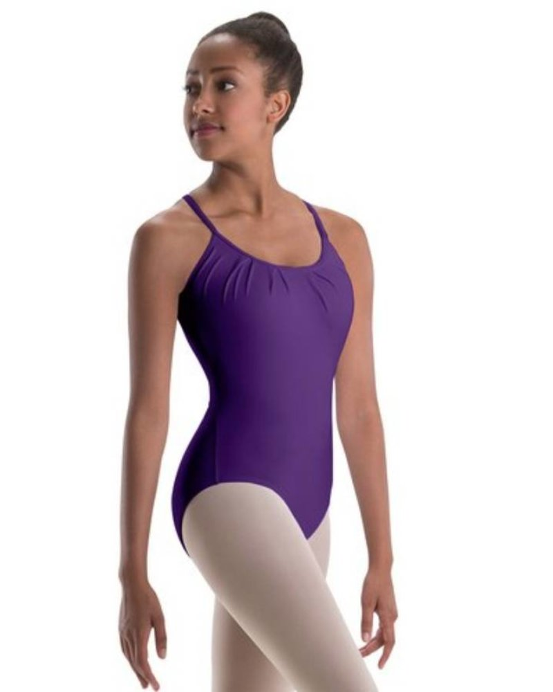 9b52038be Pleated-Front Open-Back Camisole Leotard - Allegro Dance Boutique