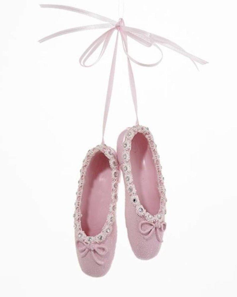 "4.25"" Pink Ballet Shoes Ornament"