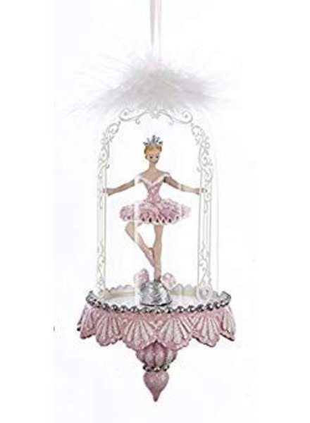 "6.25"" Pink Ballerina in Dome"