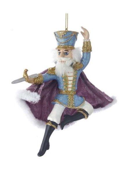 """6.5"""" Resin Blue Nutcracker Prince Ornament"""
