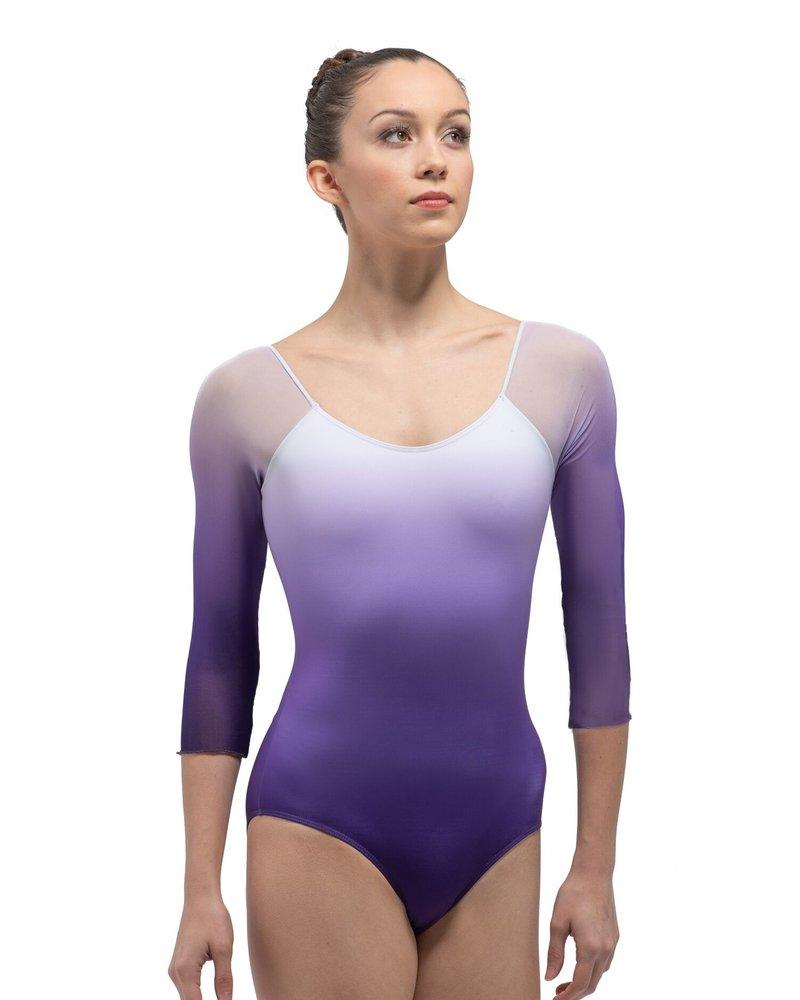 Ballet Rosa Ayala 1/2 Sleeve Square Back Leotard