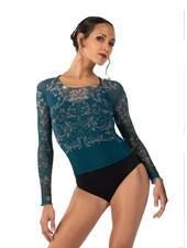 Ballet Rosa Brook, Printed Mesh Shirt