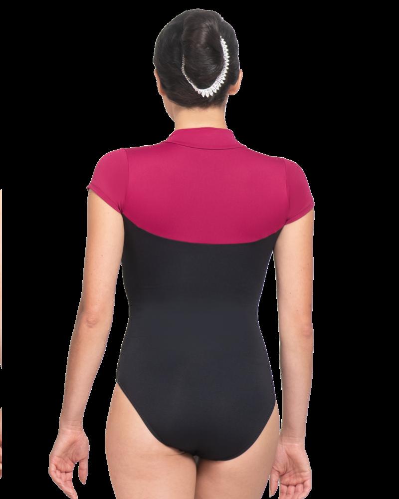 Ballet Rosa Eriko, Double Tone Zip Front Leotard